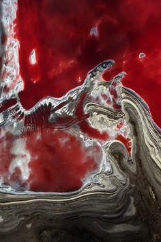 Landscape photography by Yann Arthus-Bertrand Salt evaporation ponds near Alexandria, Egypt (31°07' N, 29°50' E)