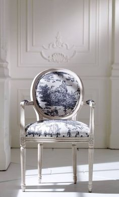 Blue Toile de Jouy chair
