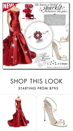 """#108"" by fashion-pol ❤ liked on Polyvore featuring Monique Lhuillier, Jimmy Choo, Milly and totwoo"