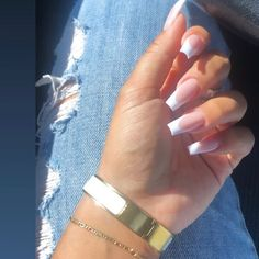 What you need to know about acrylic nails - My Nails French Tip Acrylic Nails, Summer Acrylic Nails, Best Acrylic Nails, Long French Tip Nails, French Tip Toes, Long Square Acrylic Nails, French Acrylics, Long Square Nails, Tapered Square Nails
