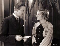 David Manners and Phyllis Barry in The Moonstone, 1934, Monogram Pictures, Directed by Reginald Barker