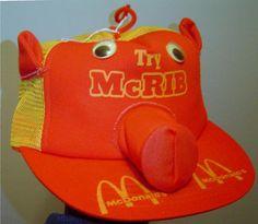 1981 McDonald's McRib Hat