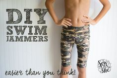 DIY Swim Jammers (easier than you think) — SewCanShe | Free Daily Sewing Tutorials