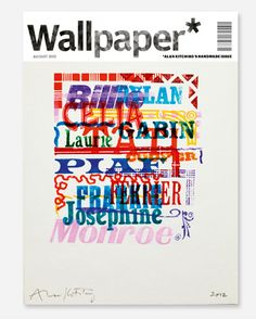 Wallpaper Handmade 2012 cover, typography by Alan Kitching