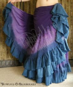 """""""Bowlfull-O-Blueberries"""" 25 Yard Petticoat Skirt.  You can order yours or create your own color combo here:  http://www.paintedladyemporium.com/Shop-Here.html"""
