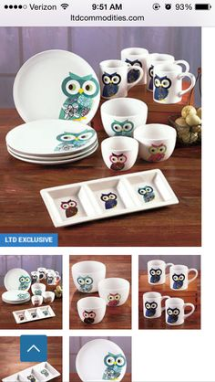 Owl dishes