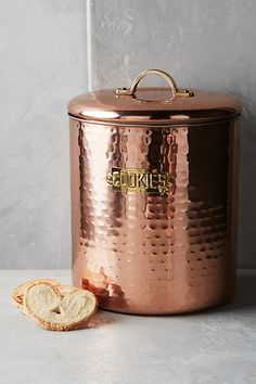 Something about copper is incredibly chic and aesthetically pleasing, and it's a material that can instantly upgrade your kitchen. While copper pots and pans, Copper Kitchen Accessories, Copper Kitchen Decor, Copper Decor, Kitchen Tools, Kitchen Products, Kitchen Pantries, Kitchen Things, Kitchen Stuff, Kitchen Utensils
