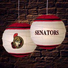 "NHL Rice Paper Lamp 18"" Light Ottawa Senators"