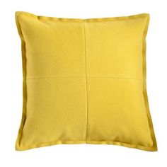 Yellow Patchwork Felt Cushion   Dunelm