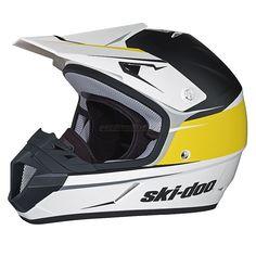 2016 Ski-Doo XC-4 Cross Drift Helmet - Yellow