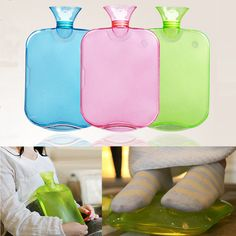 Large PVC Rubber Hot Water Bottle Bag Winter Warm Relaxing Heat Cold Therapy