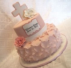 would be a lovely baptism cake