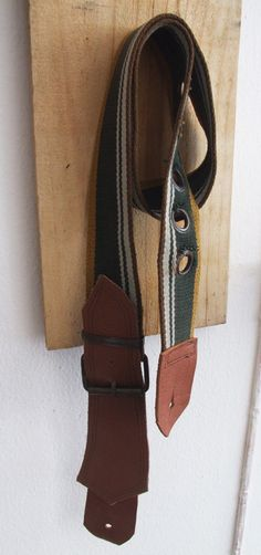 DIY from belt and leather to guitar strap