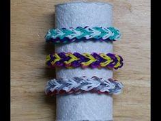 "Rainbow Loom Bracelet - Original Design - ""FLY-BY"" (ref # 3Pii)"