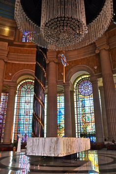 inside of The Basilica of Our Lady of Peace of Yamoussoukro....Ivory Coast