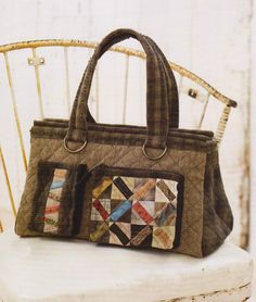 How to make tutorial travel Bag Handbag purse women sewing quliting quilt patchwork applique pdf pattern patterns ebook. $5.00, via Etsy.