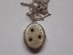 Vintage Sterling Silver Locket Engraved by BraceletstoBuckles