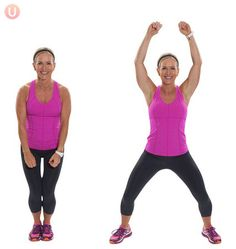Jumping jacks are a great way to get in shape and burn calories quickly.