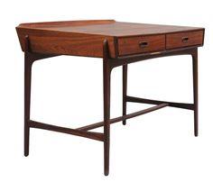 midcenturymodernfreak:  1958 Danish Rosewood Desk | Design: Svend Madsen…