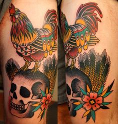 Rooster tattoo