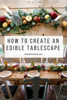 i love this idea for a thanksgiving table centerpiece holiday party themes dinner themes