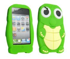 iphone 5c green turtle cases   Green 3D Cartoon Turtle Dinosaur Silicone Case Cover for iPhone 4/4S/5 ...