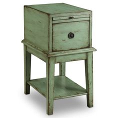 Mansfield Chairside Chest - Rustic Green