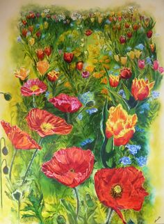 Exotic Flowers, Art Club, Landscape Paintings, Watercolor, Portrait, Artist, Pen And Wash, Watercolor Painting, Headshot Photography