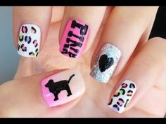 How To: Victorias Secret PINK Nails!!! OMG I wish I could do that :( oh well they are sooo adorable anyways! :D