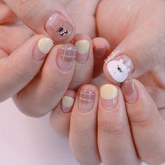 Korean Nail Art, Korean Nails, Nail Art Designs Videos, Cute Nail Art Designs, Diy Nails Cute, Nail Saloon, Asian Nails, Soft Nails, Kawaii Nails