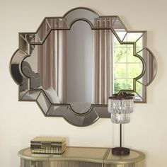 Shop House of Hampton at AllModern for a modern selection and the best prices. Enjoy Free and Fast Shipping on most stuff, even big stuff! 2 Mirror Wall Decor, Mirror Decor Living Room, Hall Mirrors, Hallway Mirror, Art Deco Mirror, Art Deco Chandelier, Dining Room Walls, Room Wall Decor, Wall Of Mirrors