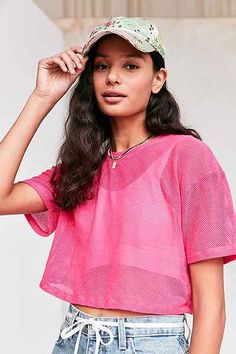 Truly Madly Deeply Cropped Mesh Tee