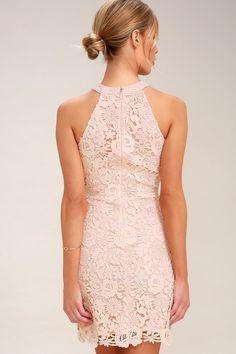 Love Poem Blush Pink Lace Dress 5