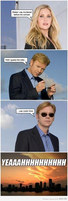cheesy CSI Miami humor