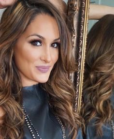 best of bellas on Diva Nails diva nails scottsdale Nikki Bella Photos, Nikki And Brie Bella, Divas Wwe, Nicole Garcia, Wwe Girls, Hair Color And Cut, Hair Highlights, Caramel Highlights, Dream Hair