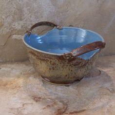 Burnt Iron Stoneware Ceramic Pottery Serving Bowl. $50.00, via Etsy.