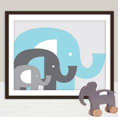 Elephants Nursery Wall Art Decor Print  8x10  by giraffesnstuff, $18.00