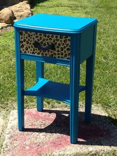 Turquoise and cheetah print
