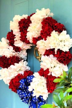 Quick DIY outdoor July 4thdecoration ideas. Easy diy dollar tree 4th of July decorations and crafts. 4th Of July Decorations, Holiday Decorations, Holiday Ideas, Diy Porch, July Crafts, Diy On A Budget, Craft Patterns, Dollar Tree, 4th Of July Wreath
