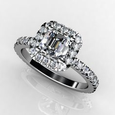CLICK HERE TO VIEW http://www.diamondsbyshelly.com/Products/430-halo-setting-with-wedding-matching-wedding-band.aspx Halo Diamond Engagement Ring