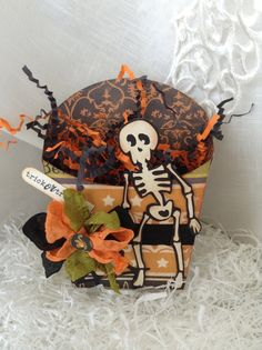 Halloween Treat Box  Vintage Style Halloween  by SweetCards, $6.00