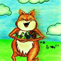 C is for Cat by Nalinne Jones. A funny cat running through a field with arms full of candy! Part of an educational, children's alphabet book, featuring colorful illustrations and artful alliteration!