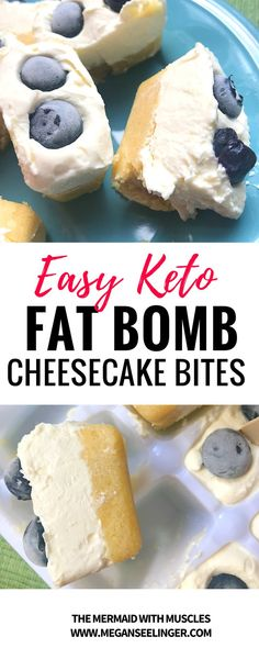 All the sweetness and richness of cheesecake, but more fun and guilt free for your Keto diet menu. These Cheesecakes are the perfect bite size for parties or for a daily sweet treat to end your long day and since they are frozen they will last a while. #keto #ketorecipes #dessert #dessertrecipes #cheesecake #blueberry