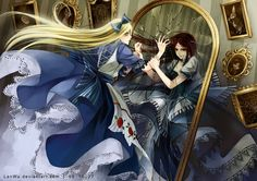 Alice, light and dark. Beautiful <3 Into the looking glass