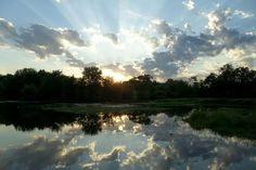 Beautiful sunrise over wapsi river