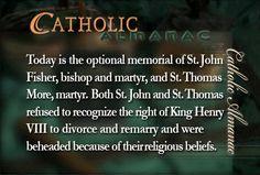 #SaintJohnFisher #SaintThomasMore #martyrs