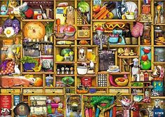Kitchen Cupboard, a 1000-pc Ravensburger jigsaw puzzle, found in KickAss Crazy at Kickasspuzzles.com.