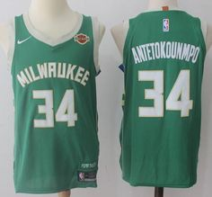 Nike Bucks  34 Giannis Antetokounmpo Green Stitched NBA Jersey 8c382be52