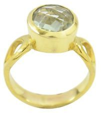 Green Amethyst Gold Plated Ring attractive Green supplies AU gift