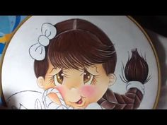 Pintura en tela niña limon # 2 con cony - YouTube